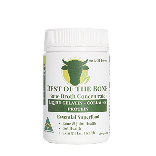 Organic Beef Bone Broth Gelatin - Supports Joint Health, Boost Immunity - Fresh, Natural Ingredients for Delicious Paleo & Gluten Free Diet Friendly Broth Soup Stock - 12.3 oz