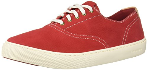 Cole Haan Lace Oxfords - Cole Haan Men's Grandpro Deck LACE OX Boat Shoe, Tango red Nubuck, 8.5 M US
