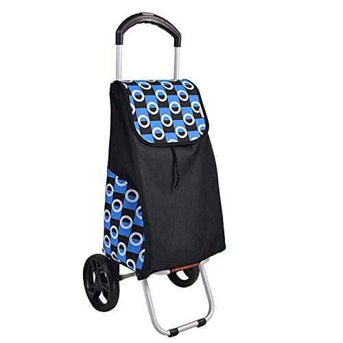 bluee Shopping Trolley 2 Wheels, Folding, Strong Stable Mobility Aid, Ladies, Mens and Unisex Designs