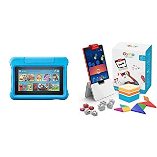 Fire 7 Kids Edition Tablet + Osmo Genius Kit Bundle (Blue)