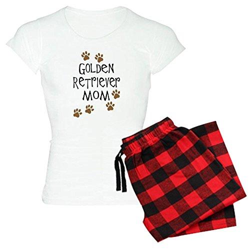 CafePress Golden Retriever Mom Women's Light Pajamas Womens Novelty Cotton Pajama Set, Comfortable PJ Sleepwear (Golden Presents Retriever)