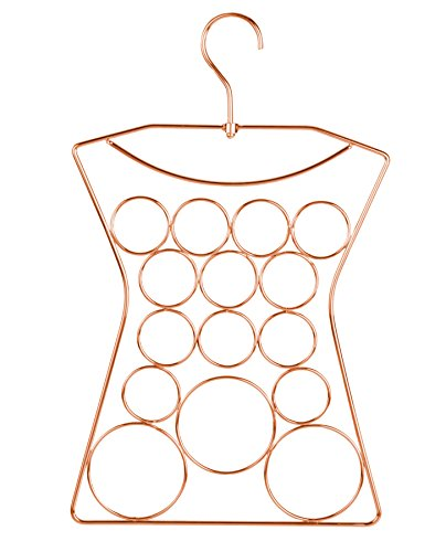 Yimai Scarf Hanger Jewelry Organizer 360 Degree Rotated Hanger Design , Steel Copper Plated