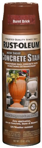- Rust-Oleum 247129 Concrete Stain Spray, Burnt Brick, 15-Ounce