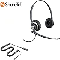 ShoreTel Compatible Plantronics EncorePro 720 HW720 Ultra Noise-Canceling VoIP Headset Bundle for ShoreTel IP Phones: 100, 212, 230, 230G, 265, 530, 560, 560G, 565, 565G, 655