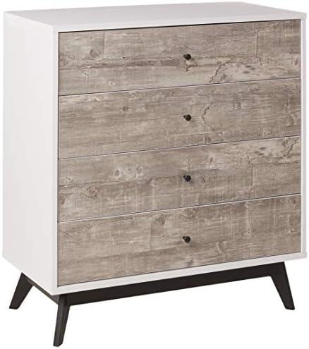 The Mezzanine Shoppe Crislana Ultra Modern 4 Drawer Bedroom Chest Dresser