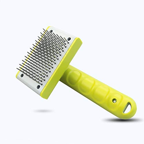 KBWL Stainless Steel Pet Comb Dog Grooming Tool Open Knot Comb for Dog Cat Hair Clean Needle Comb Push Hair Remove Dog Brush Universal pet Comb Green