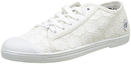Le Temps des Cerises BASIC 02, Zapatillas Mujer Blanc (blanc Dentelle White)