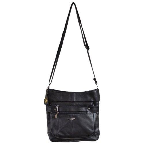 Bag Ladies Leather Dark Body Brown Shoulder Black Black Cross Bag Fawn Tan 4q6trq
