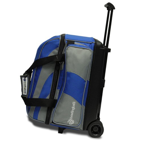 Pyramid Path Deluxe Double Roller Bowling Bag (Blue/Grey)