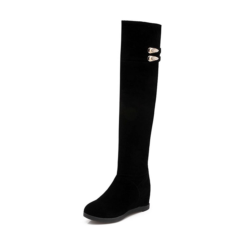 AdeeSu Womens Casual Round-Toe Slip-Resistant Suede Boots SXC02118