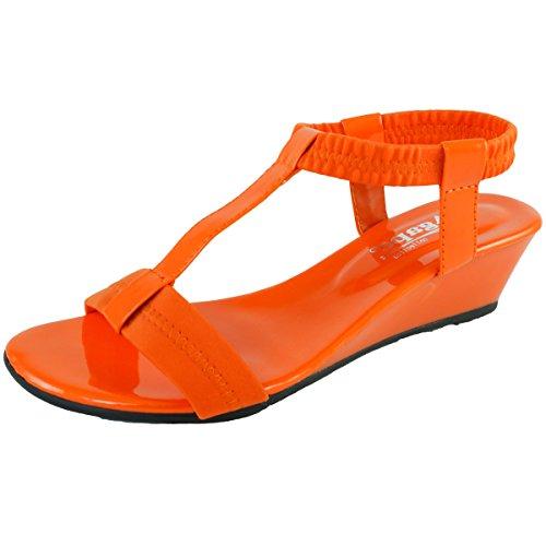 Agape Image-69 T-Strap Wedge Sandal