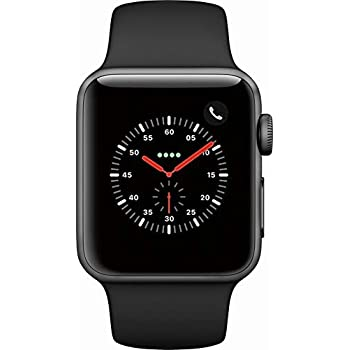 Apple Watch Series 3 - GPS+Cellular - Space Gray Aluminum Case with Gray Sport Band - 38mm (Refurbished)