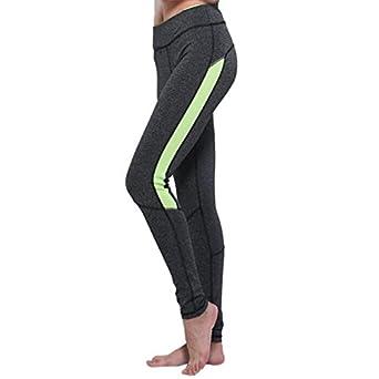 Pantalon Yoga Mujer,PANPANY Mujeres Elasticidad Ejercicio ...