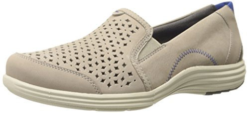 Aravon Women's Bonnie-AR Slip-On Loafer,Stone,7.5 B US
