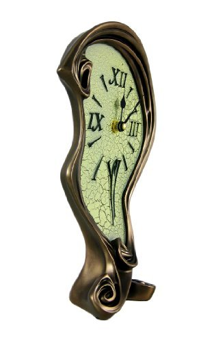 COOL acabado de bronce derretida reloj mesa escritorio Dali by Things2Die4: Amazon.es: Hogar