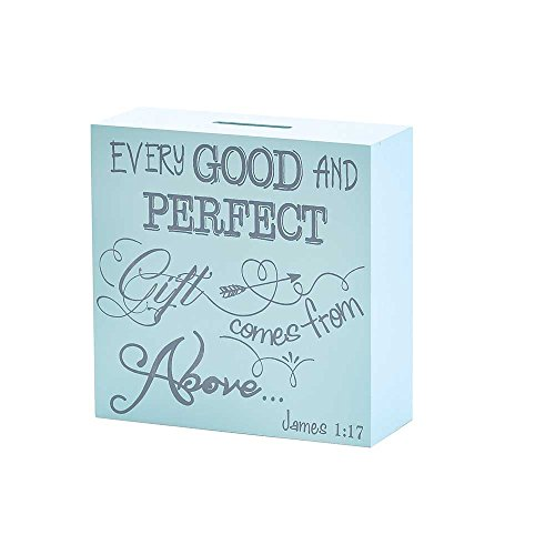 Dicksons Coin Bank for Little Boys, James 1:17/Blue