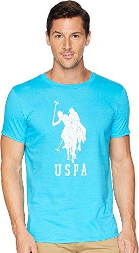 (U.S. Polo Assn. Men's Short Sleeve Crew Neck Fashion T-Shirt, Horizon Blue, L)