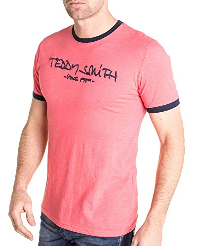 Teddy T Homme Shirt Rose Smith 6qr0qAXx