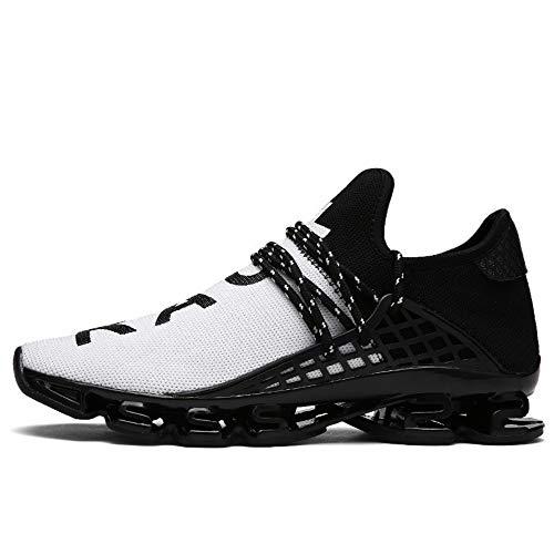 Running Net Flying Black Male Shoes Mesh White Elasticity 40 Casual Yokipk High Breathable Tidal Shoes nwvq44FC