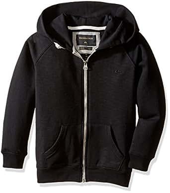 Quiksilver Little Boys' Everyday Zip Fleece Top, Black, 4