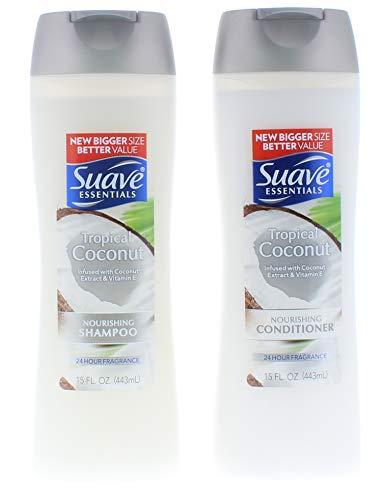(Suave Essentials Tropical Coconut Shampoo and Conditioner 15 Fl. Oz.)