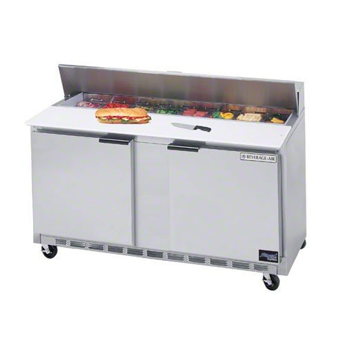 Beverage-Air Commercial Refrigeration 60 Sandwich Prep Table Spe60-16 by Beverage Air