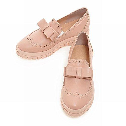 Mostrar Los Zapatos Planos De Shine Mujeres Fashion Sweet Bow Loafer Pink