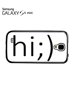 Hi Blink Smiley Face Troll Mobile Cell Phone Case Samsung Galaxy S4 Mini Black