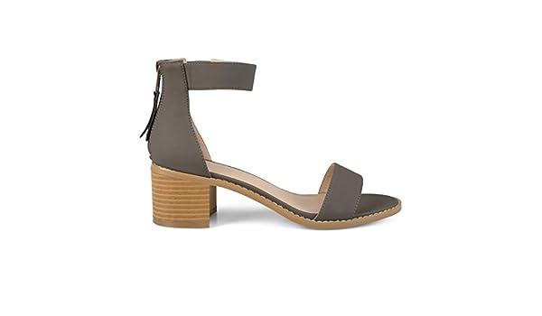 e4eb0d5615dad Womens Zipper Tassel Ankle Strap Sandals Grey