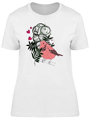 Bird With Plants & Hearts Tee Women's -Image by Shutterstock from Teeblox