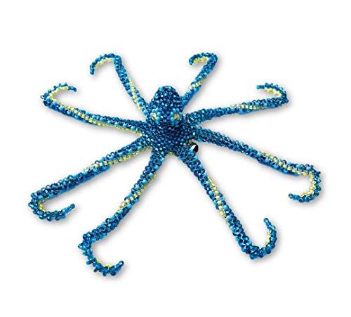 Mayan Arts Octopus Beaded Jewelry, Hand Strung Octopus, pin Attached, Ornament, Christmas Tree, Figurine, Handmade Guatemala 6
