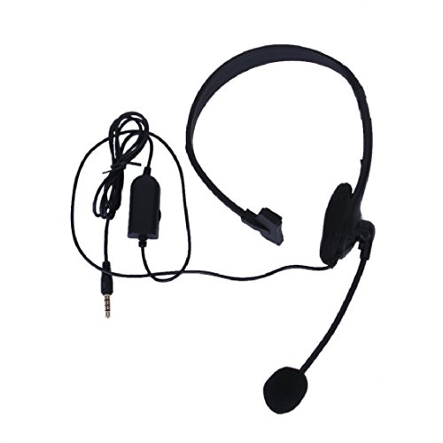3.5mm wired Gaming Headset Headphone Earphone + Microphone Mic Accessories for PS4 computer Black
