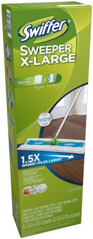 health, household, household supplies, cleaning tools, dusting,  dust mops, pads 9 image Swiffer Sweeper X-Large Starter Kit In The deals