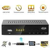 Leelbox Digital Converter Box for Analog TV 1080P ATSC Converters with Recording, Pause