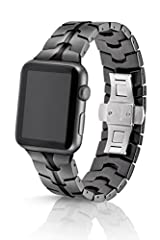 Manufactured to Swiss level quality, precision and standards, JUUK's premium watch bands are the only choice for extremely well-made, uniquely-designed aluminum bands for your Apple Watch. We use hard anodized 6000 series aluminum and solid 3...