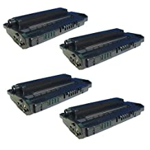 Amsahr C3906A HP C3906A, LaserJet 5L, 5ML, 6L Compatible Replacement Toner Cartridge with Four Black Cartridges