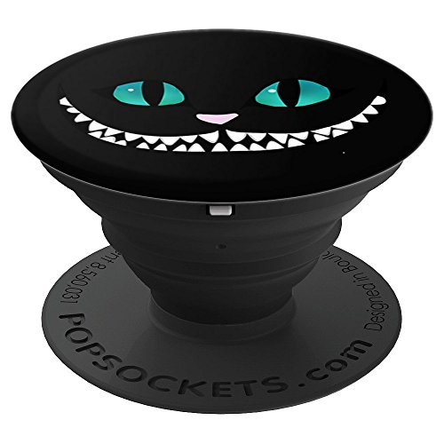 Cheshire Cat Scary Smile Funny Grinning Floating Cat - PopSockets Grip and Stand for Phones and Tablets