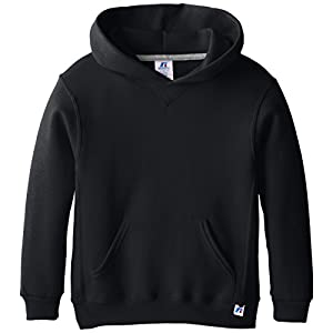 Russell Athletic Big Boys' Fleece Pullover Hood, Black, Large