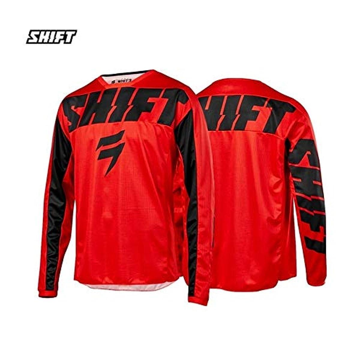 [해외] SHIFT 시프트 저지 모토크로스ROSS 포함 웨어 오프로드 저지 downhill 오토바이 앤듀로 수분 발산 통기성 희다 : RED, SIZE : XL