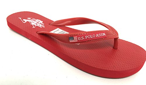 U.S.POLO ASSN. Infradito US Polo Rosso Red MOD Barclay in Gomma US16UP30