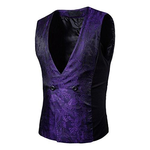 Violet Casual Mode Manteau Blazer Travail Outwear Basique De Hommes Gilet Yying Costume wqPBXgZwx