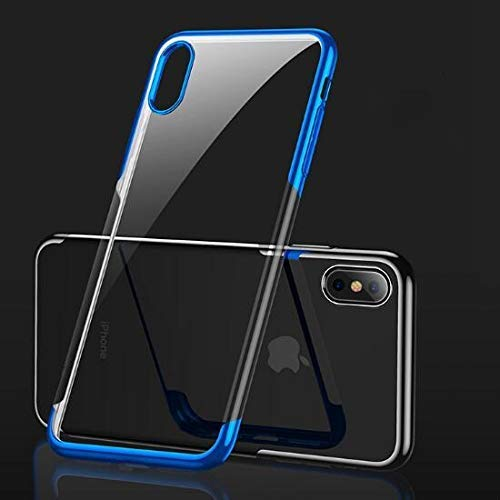 makebuy Ultra Thin Slim Fit Soft Silicone TPU Cover Case Compatible iPhone  Xs,iPhone X, iPhone Xs Max (Blue, for iPhone Xs Max)