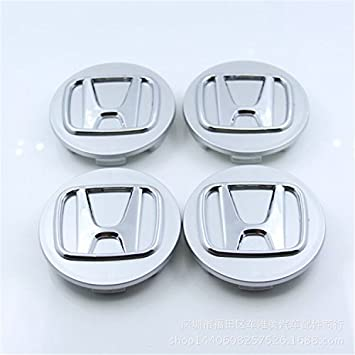 Automelody 4pcs 69mm A Set Of Wheel Hubcap Center Caps For Honda (type1, Silver)