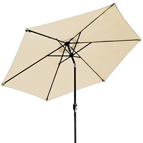 Sorbus Outdoor Umbrella, 10 ft Patio Umbrella with Tilt Adjustment and Crank Lift Handle, Perfect for Backyard, Patio, Deck, Poolside, and more Beige
