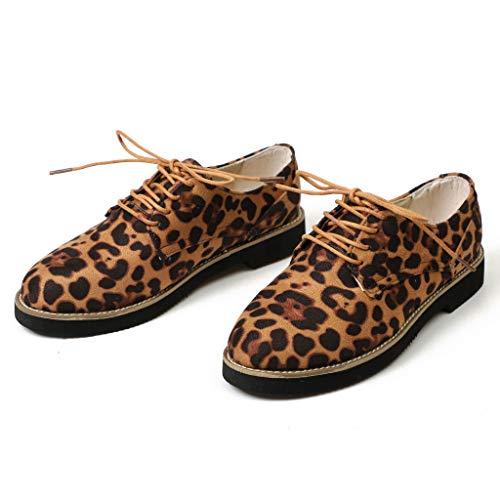 bout Cuir 3cm espadrilles Chic Chaussures Derbies Marron Femme Mocassins Daim Cheville Grande Bottes Compensées Taille Rond Low xIn5gwS