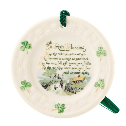 Blessing Belleek Plate Irish (Belleek 2906 Irish Blessing Ornament, 3.3-Inch, White)