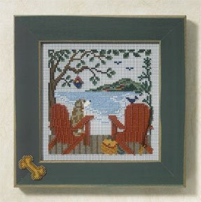 Button Bead Kit (Lakeside Retreat Beaded Counted Cross Stitch Kit Mill Hill MH147104 Buttons & Beads 2007 Spring)