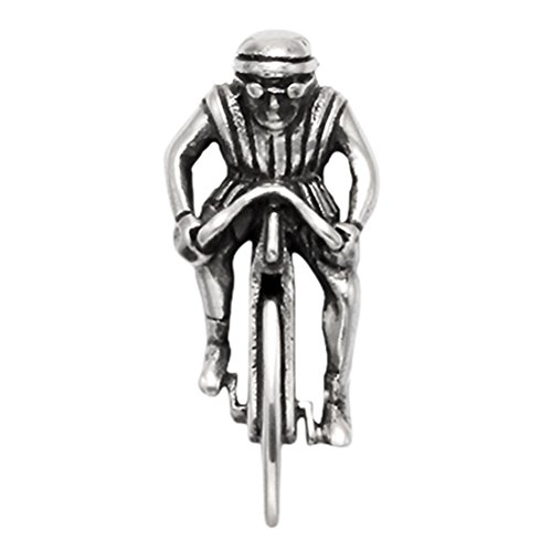 Wild Things Sterling Silver Bicycle Racer Pendant