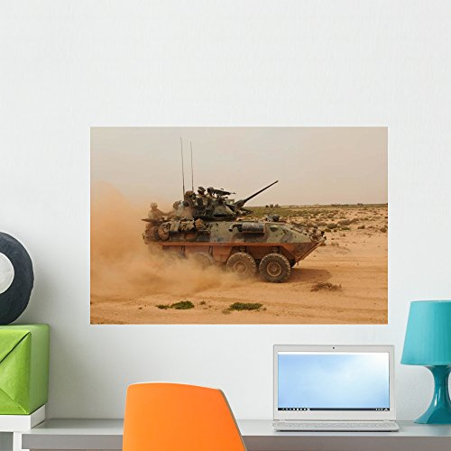 Wallmonkeys Marine Corps Light Armored Wall Mural by Peel and Stick Graphic (24 in W x 16 in H) (Marines Armored Vehicle)