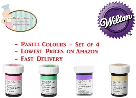 Amazon.com : Wilton Pastel Food Colouring Gel Paste. Cake & Cupcake ...